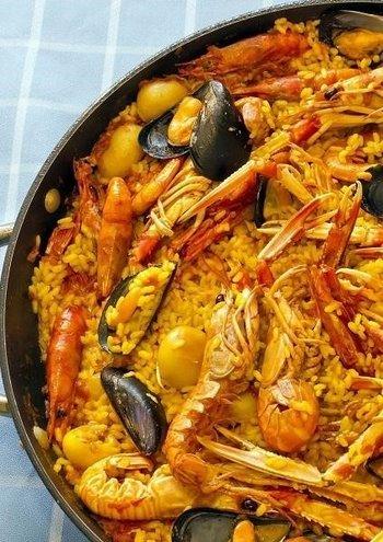 Paella Z Owocami Morza łatwy Przepis Na Paella Marinera